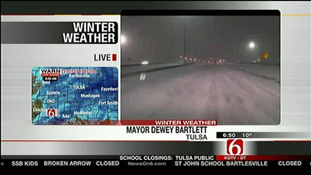 Tulsa Mayor Dewey Bartlett Talks Snow Removal With Six In The Morning