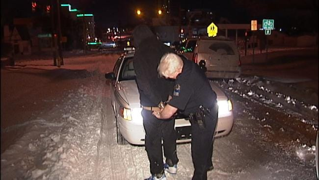 WEB EXTRA: Video From Scene Of Tulsa Burglary Arrest