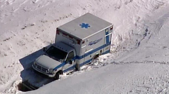 SkyNews 6: Creek County Ambulance Stranded In Blizzard