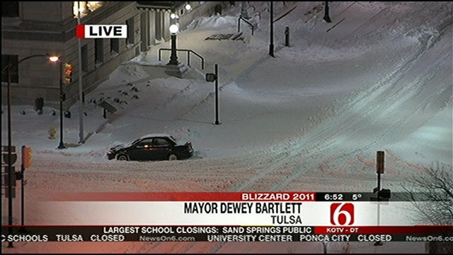 Tulsa Mayor Dewey Bartlett Answer Questions From Six In The Morning