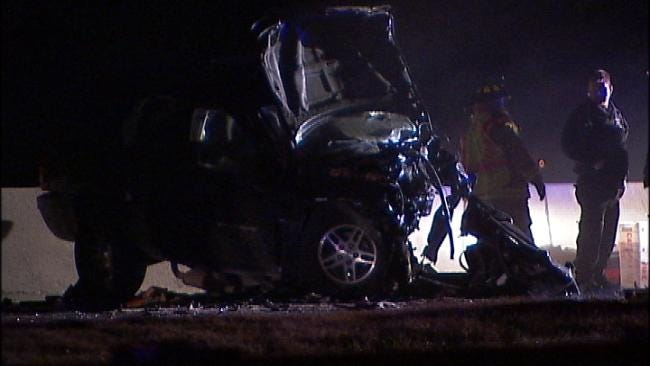 WEB EXTRA: Video From The Scene Of The Will Rogers Turnpike Crash