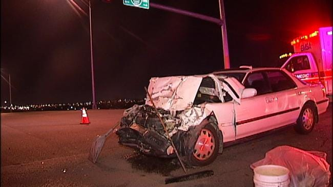 WEB EXTRA: Video From Scene Of Crash On Tisdale At Gilcrease Expressway