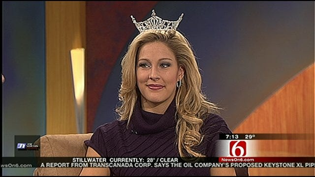 Miss Oklahoma Visits Six in the Morning