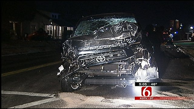 Tulsa Police: Driver's Alcohol Level 2X The Legal Limit In Crash