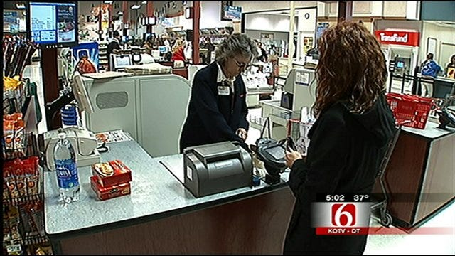 Tulsa Cash Registers Ring As Folks Stock Up For Snow