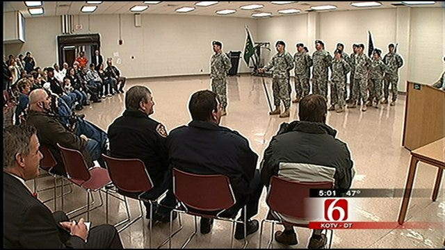 Families Say Goodbye To Deployed Military Police Unit