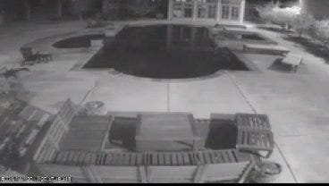WEB EXTRA: Mississippi Surveillance Video Of The Meteor's Flash