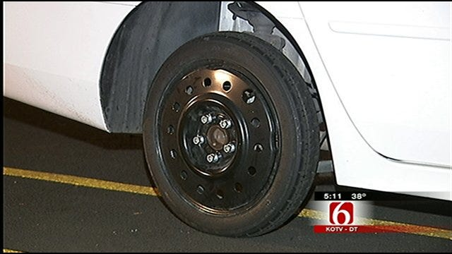 Vandals Flatten Tires On About 30 Cars At Tulsa's Stonegate Apartments