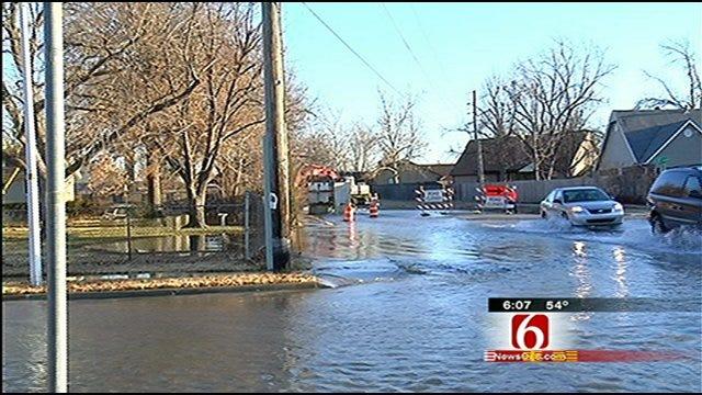 Crews Fix Major East Tulsa Water Line Break