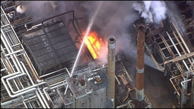 SkyNews9 Video: Wynnewood Refinery Explosion