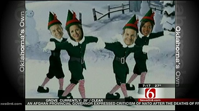 Six In The Morning Team Tries 'Elf Yourself'