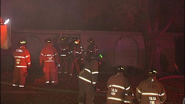 WEB EXTRA: Video From Scene Of South Tulsa House Fire