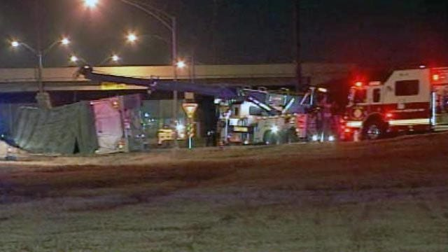 WEB EXTRA: Video From Scene Of I-44 And BA Overturned Semi