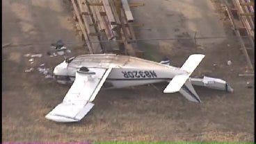 WEB EXTRA: 1 Dead, 1 Injured In Plane Crash At Ponca City Airport