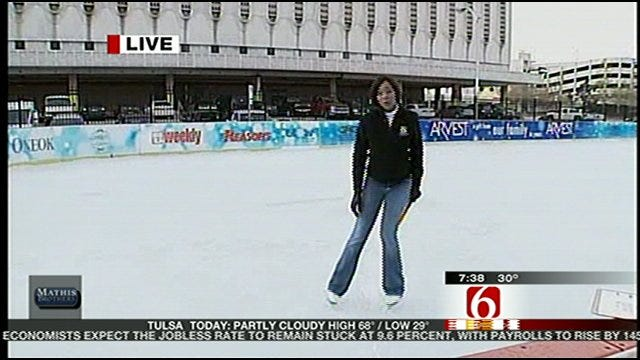 WEB EXTRA: Six in the Morning Reporter Jamie McGriff Shows Off Her Ice Skating Prowess