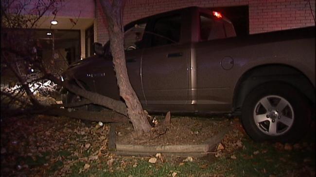 WEB EXTRA: Video Of Scene Of Pickup Crash On South Sheridan
