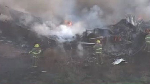 WEB EXTRA: Firefighters Battle Sperry Fire
