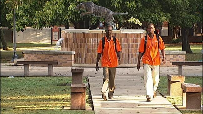 Richard Kirabira And Charles Mugabi, New Students At ECU