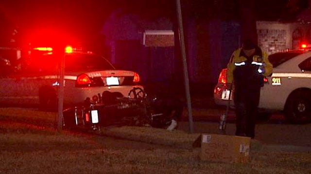 Motorcyclist Critically Injured In East Tulsa Wreck