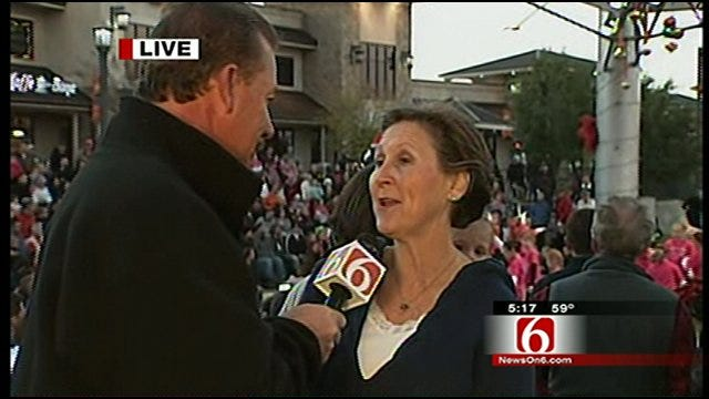 News On 6 Chief Meteorologist Talks With Gena Hurst With Jenks Riverwalk Crossing