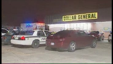 WEB EXTRA: Tulsa Police On The Scene Of The Dollar General Robbery