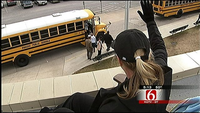 Owasso School Principal Spends Day On Roof