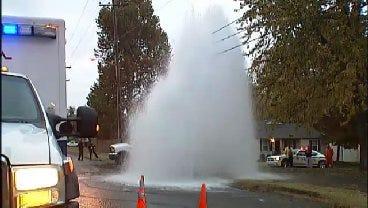 WEB EXTRA: Video From Scene Of Tulsa Fire Hydrant Crash