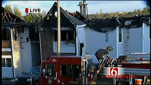Eight Units Destroyed In West Tulsa Apartment Fire
