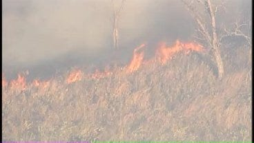 WEB EXTRA: SkyNews6 Flies Over Grass Fire In Washington County