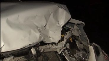 WEB EXTRA: Video From Scene Of Car-Deer Crash