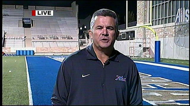 TU's Football Coach Todd Graham Talks About Win Over Notre Dame