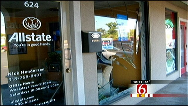 Insurance Agent Covered After Deer Smashes Through Office