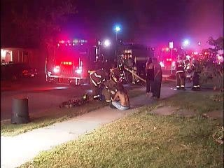WEB EXTRA: Video From Scene Of Tulsa Duplex Fire Early Wednesday Morning