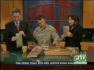 The News On 6 Six in the Morning Crew Samples A U.S. Military MRE