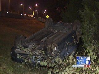 WEB EXTRA: Tulsa police describe rollover crash