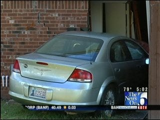 Woman Drives Car Into An East Tulsa Apartment