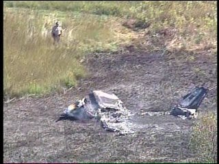 WEB EXTRA: SKYNEWS 6 Video Of Creek County Airplane Crash