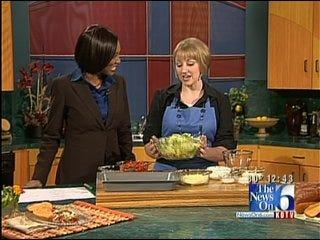 BLT Overnight Salad with Tomato Basil Croutons