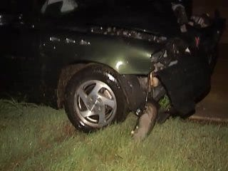 WEB EXTRA: Video From Scene Of One Car Accident On State Highway 11