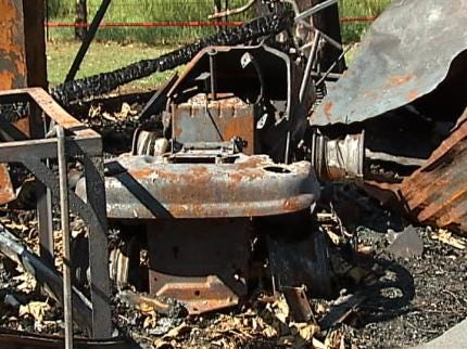 Lawnmower Fire Destroys Wagoner County Man's Home