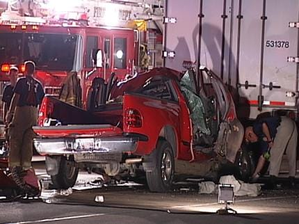 WEB EXTRA: Video From The Scene Of Tulsa Fatal Traffic Crash