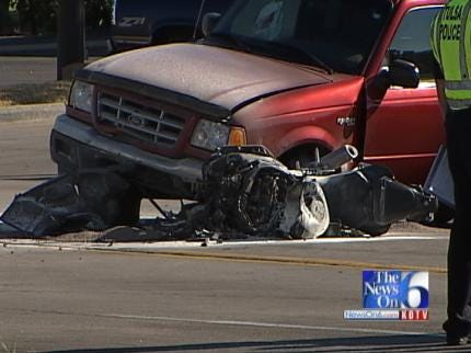 WEB EXTRA: Scenes From East Tulsa Fatality Motorcycle Accident