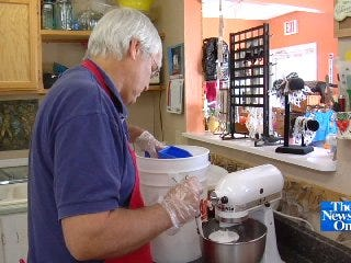 Claremore Pet Bakery Busy Baking Bowser Biscuits for Weekend Expo