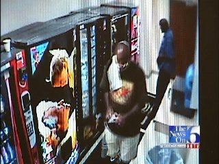 WEB EXTRA: Watch Surveillance Video Of Two Men Burglarizing Vending Machines