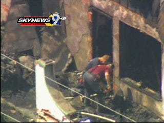 WEB EXTRA: Aerial View Of Weleetka House Damaged By Fire