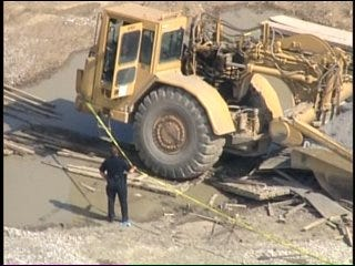 WEB EXTRA: Aerial View Of North Tulsa Construction Accident