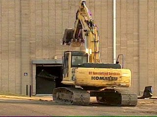 Video of Crews Working on Booker T Field House Demolition Project