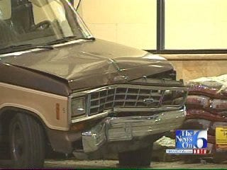 WEB EXTRA: Truck Crashes Into Tulsa Grocery Store