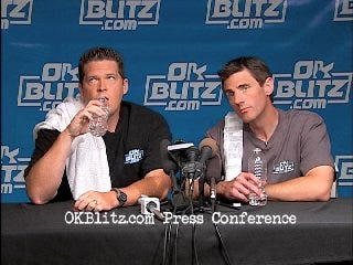 Press conference satire: Toby Rowland and Chad McKee
