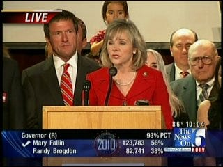 WATCH PARTY: Mary Fallin On GOP Victory